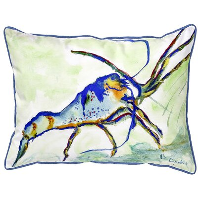 Henegar Lobster Indoor/Outdoor Lumbar Pillow Size: Small