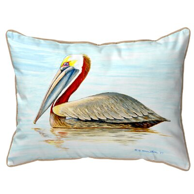 Henegar Pelican Indoor/Outdoor Lumbar Pillow Size: Small