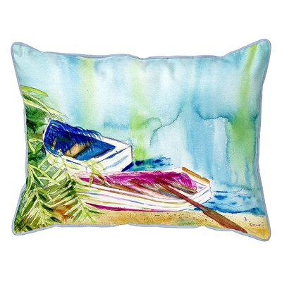 Henegar Watercolor Rowboats Indoor/Outdoor Lumbar Pillow Size: Small