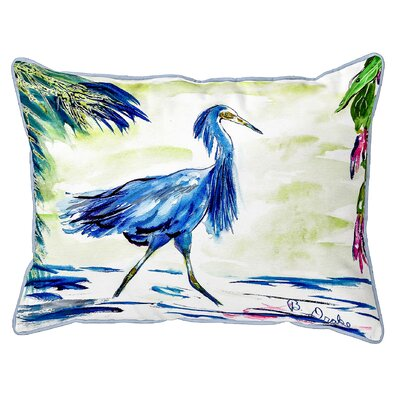 Henegar Egret Indoor/Outdoor Lumbar Pillow Size: Small