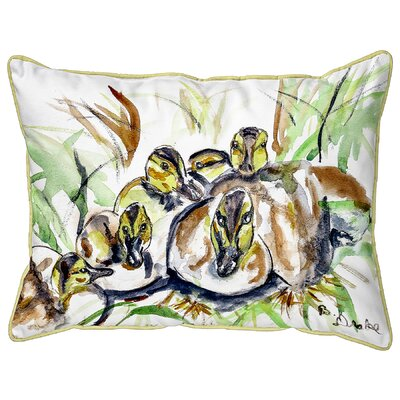 Isola Ducklings Indoor/Outdoor Lumbar Pillow Size: Large