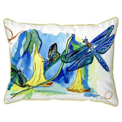 Isola Bells and Dragonfly Indoor/Outdoor Lumbar Pillow Size: Extra Large