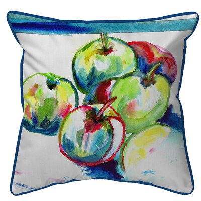 Isola Apples Indoor/Outdoor Throw Pillow Size: Large