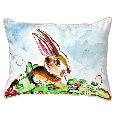 Fessler Rabbit Right Indoor/Outdoor Lumbar Pillow Size: Large
