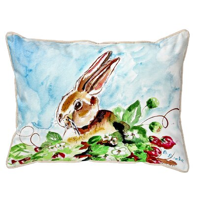 Ferro Rabbit Left Indoor/Outdoor Lumbar Pillow Size: Large