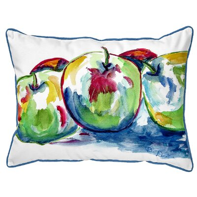 Isola Three Apples Indoor/Outdoor Lumbar Pillow Size: Large