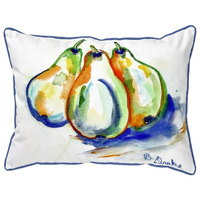 Isola Three Pears Indoor/Outdoor Lumbar Pillow Size: Large