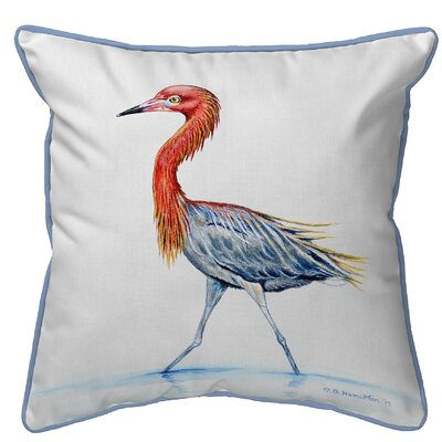 Henegar Reddish Egret Indoor/Outdoor Throw Pillow Size: Small