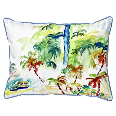 Bluffton Colorful Palms Indoor/Outdoor Lumbar Pillow Size: Large