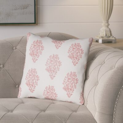 Glengormley Throw Pillow Size: 18 H x 18 W x 4 D, Color: White/Red