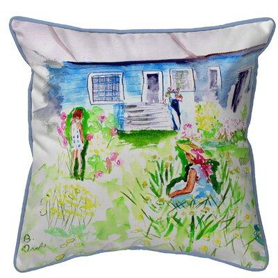 Isola Front Yard Garden Indoor/Outdoor Throw Pillow Size: Large