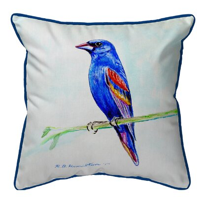 Isola Grosebeak Indoor/Outdoor Throw Pillow Size: Large