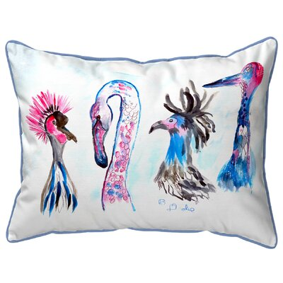 Isola Birds Indoor/Outdoor Lumbar Pillow Size: Large