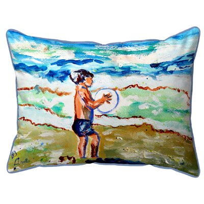 Henegar Boy and Surf Indoor/Outdoor Lumbar Pillow Size: Large