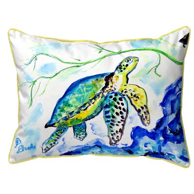 Henegar Sea Turtle Indoor/Outdoor Lumbar Pillow Size: Large