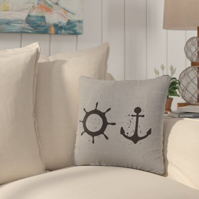 Caribe Throw Pillow Color: Gray