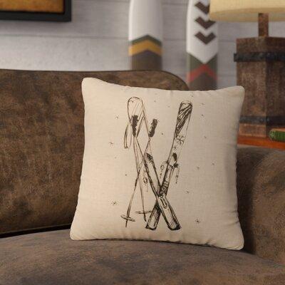 Nakamura Ski Throw Pillow Color: Natural