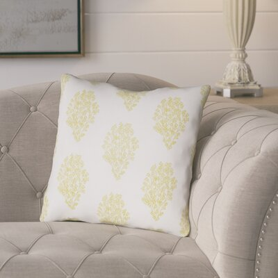 Glengormley Throw Pillow Size: 20 H x 20 W x 4 D, Color: White/Yellow