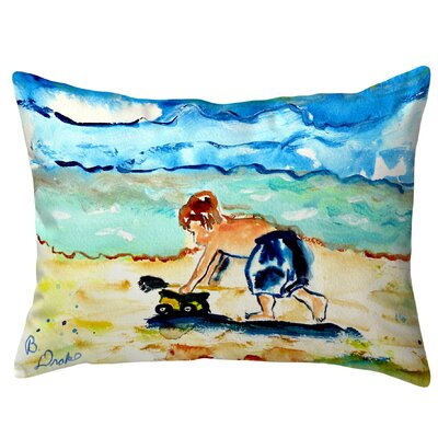 Henegar Playing in Sand Indoor/Outdoor Lumbar Pillow