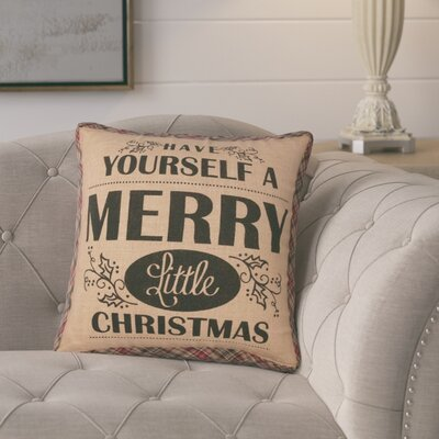 Leonidas Merry Christmas Throw Pillow