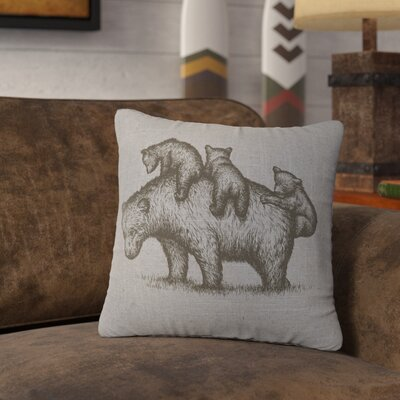 Nakashima Mama Bear Throw Pillow Color: Gray