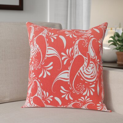 Klassen Indoor/Outdoor 100% Cotton Pillow Cover Color: Coral/White