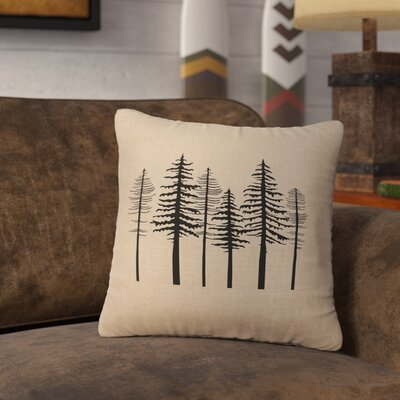Nakasi Trees Throw Pillow Color: Straw