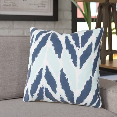 Aren Outdoor Throw Pillow Size: 18 H x 18 W x 4 D, Color: Cobalt/Mint