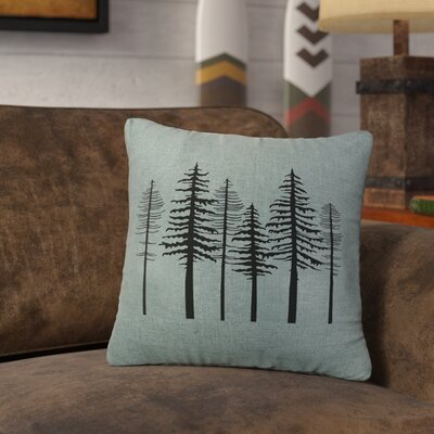 Nakasi Trees Throw Pillow Color: Ocean