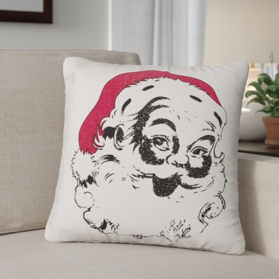 Foskey Vintage Santa 100% Cotton Throw Pillow