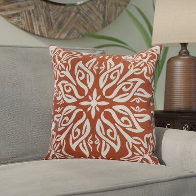 Drucker Tile Throw Pillow Color: Red/Orange, Size: 18 x 18
