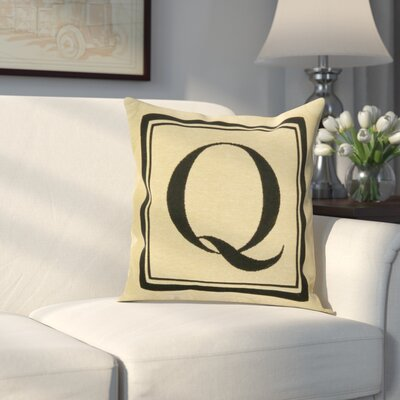 Beaver Creek Monogram Throw Pillow Letter: Q