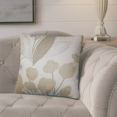Berkhamstead Floral Linen Throw Pillow Color: Orange