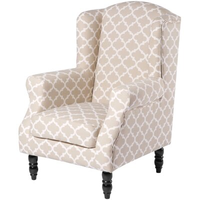 Croley Wingback Chair Upholstery: Beige