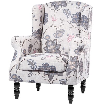 Croley Wingback Chair Upholstery: Purple