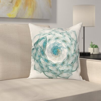 Exquisite Flower Shaped Square Pillow Cover Size: 18 x 18
