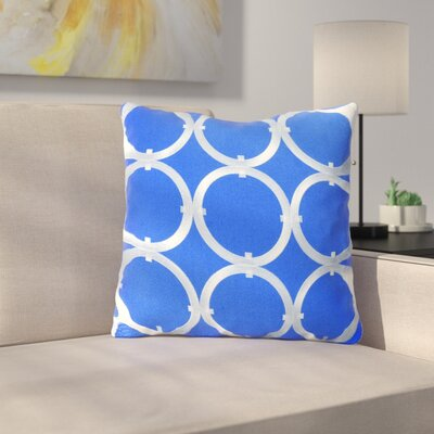 St George Circle 100% Cotton Throw Pillow Color: Blue