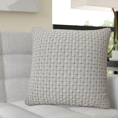Quintanar Geometric Throw Pillow Color: Black/White