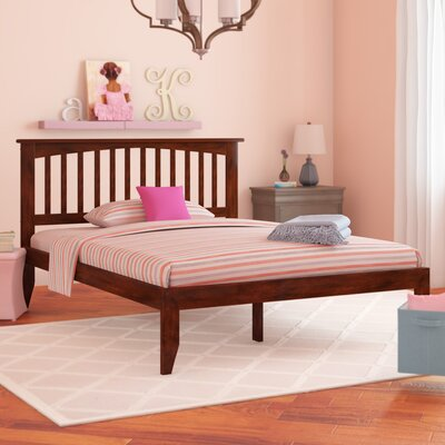 Deandre Platform Bed Color: Antique Walnut, Size: Queen