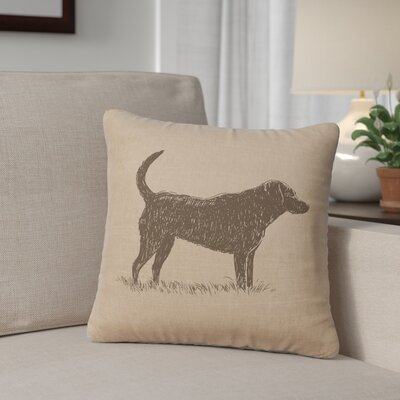 Fendley Lab Throw Pillow Color: Natural