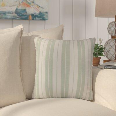 Capri Stripes Cotton Throw Pillow Color: Aqua