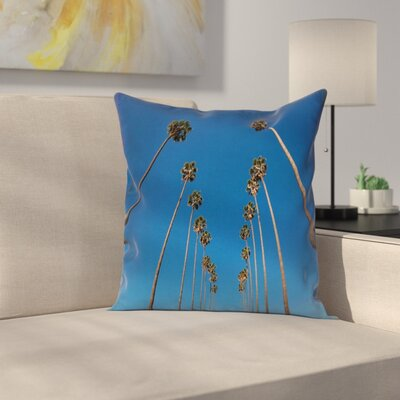Tropical Palms Summertime Square Pillow Cover Size: 24 x 24