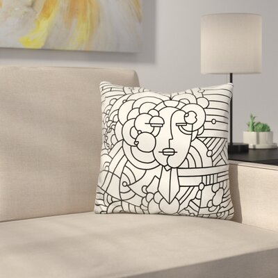Art Deco Face Throw Pillow
