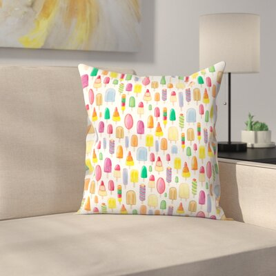 Elena ONeill Ice Lollies Throw Pillow Size: 18 x 18