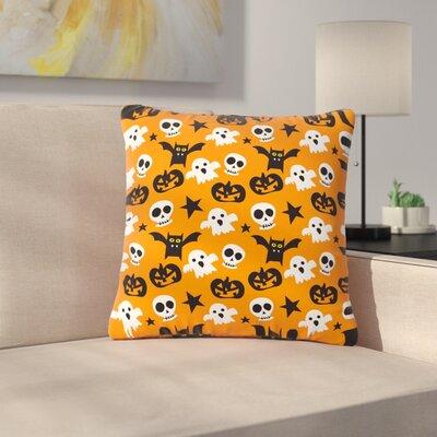 Spooktacular Halloween Pattern Outdoor Throw Pillow Size: 18 H x 18 W x 5 D
