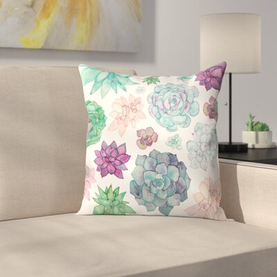 Elena ONeill Succulent Garden Throw Pillow Size: 18 x 18