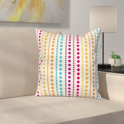Half Toned Polka Dots Square Pillow Cover Size: 18 x 18