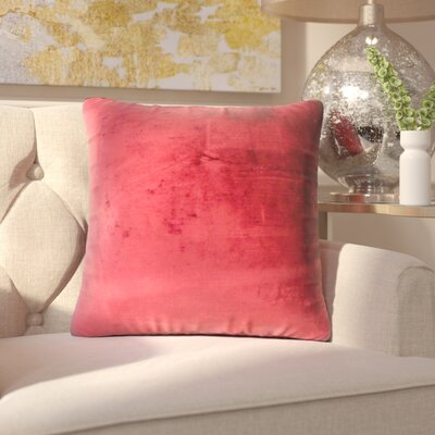 Bevin Solid Cotton Throw Pillow