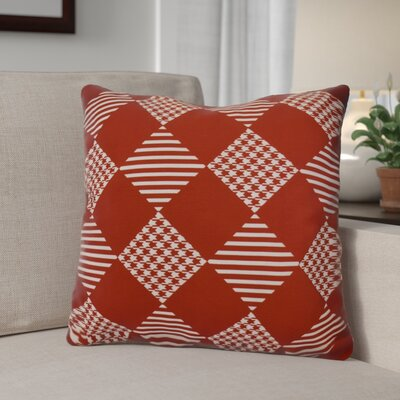 Geometric Outdoor Throw Pillow Size: 20 H x 20 W, Color: Red