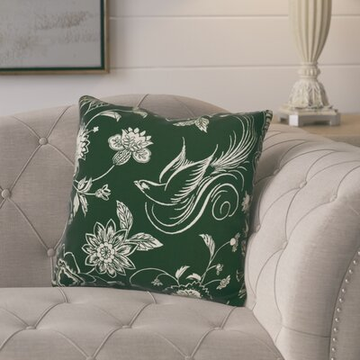 Rolla Decorative Holiday Throw Pillow Size: 16 H x 16 W, Color: Dark Green